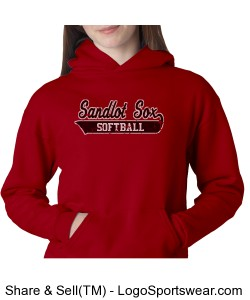 Youth Red Hoodie Design Zoom